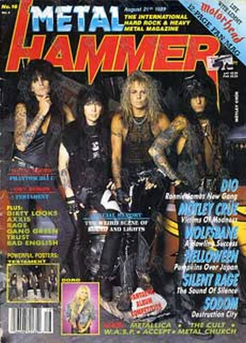 Metal Hammer August 21 1989 Motley Crue On Cover