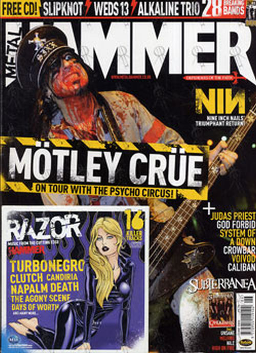 MOTLEY CRUE - 'Metal Hammer' - June 2005 - Nikki Sixx On Cover - 1