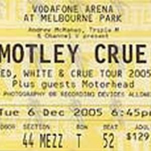 MOTLEY CRUE - Tues 6th Dec