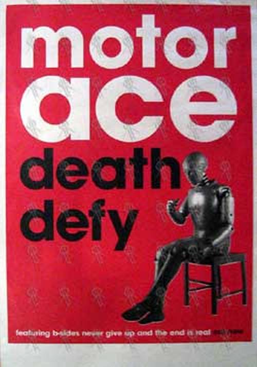MOTOR ACE - 'Death Defy' Single Poster - 1