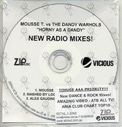 MOUSSE T vs THE DANDY WARHOLS - Horny As A Dandy (New Radio Mixes)