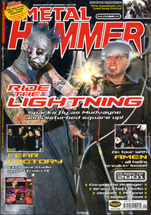 Disturbed Mudvayne Metal Hammer January 2001 David Draiman