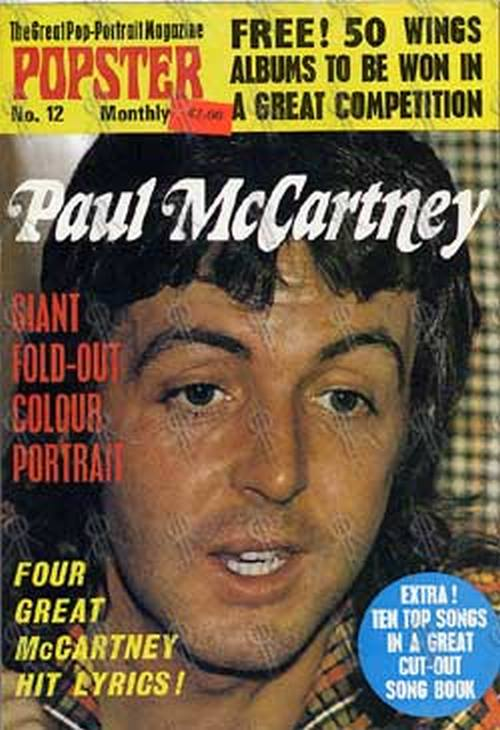 McCARTNEY-- PAUL - Popster No. 12 - 1973 - 1