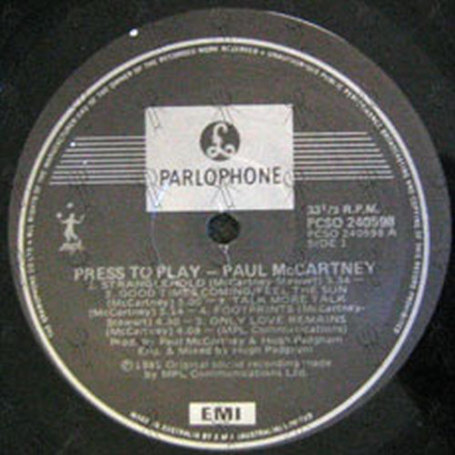 McCARTNEY-- PAUL - Press To Play - 4
