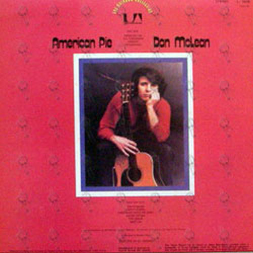 mclean don american pie 12 inch lp vinyl rare. Black Bedroom Furniture Sets. Home Design Ideas