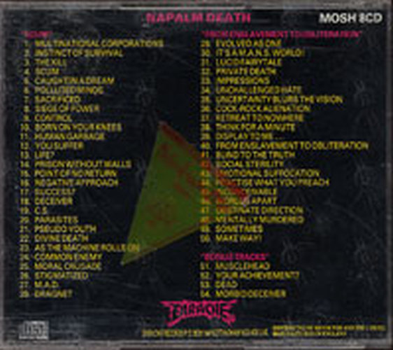 Napalm Death From Enslavement To Obliteration Album Cd