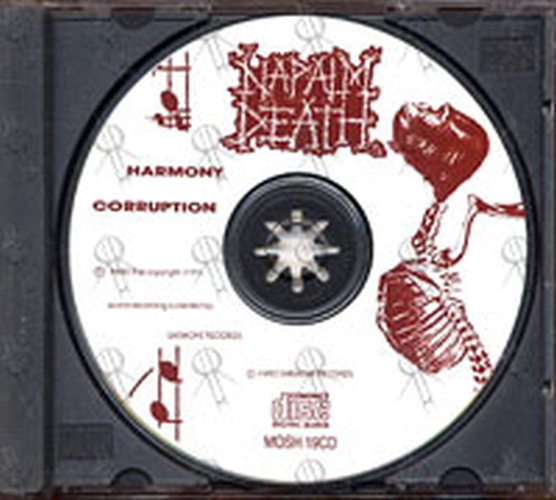 Napalm Death Harmony Corruption Album Cd Rare Records