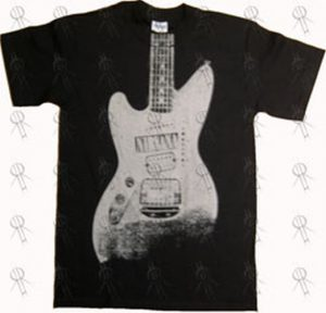 NIRVANA - Black Guitar Sticker T-Shirt - 1