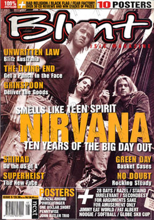 NIRVANA - 'Blunt' - January 2002 - Nirvana On Cover - 1