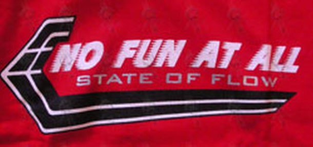 NO FUN AT ALL - Red 'State Of Flow' Bonds Style T-Shirt - 2