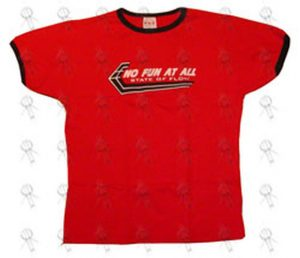 NO FUN AT ALL - Red 'State Of Flow' Bonds Style T-Shirt - 1