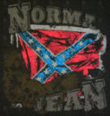 NORMA JEAN - Black 'Confederate Flag' Design T-Shirt - 2