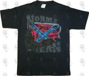 NORMA JEAN - Black 'Confederate Flag' Design T-Shirt - 1