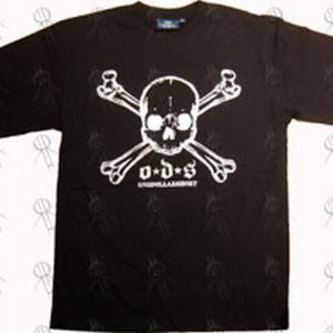 ONE DOLLAR SHORT - Black Skull And Crossbones Logo T-Shirt - 1