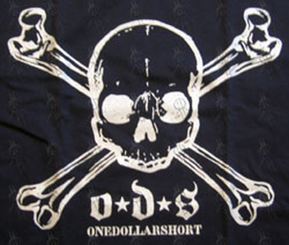 ONE DOLLAR SHORT - Navy Skull And Crossbones Logo T-Shirt - 2