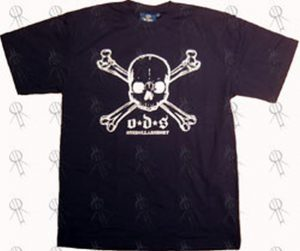 ONE DOLLAR SHORT - Navy Skull And Crossbones Logo T-Shirt - 1