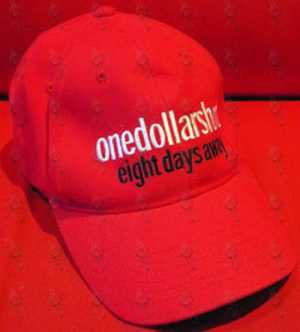 ONE DOLLAR SHORT - Red 'Eight Days Away' Flexi-Fit Cap - 1