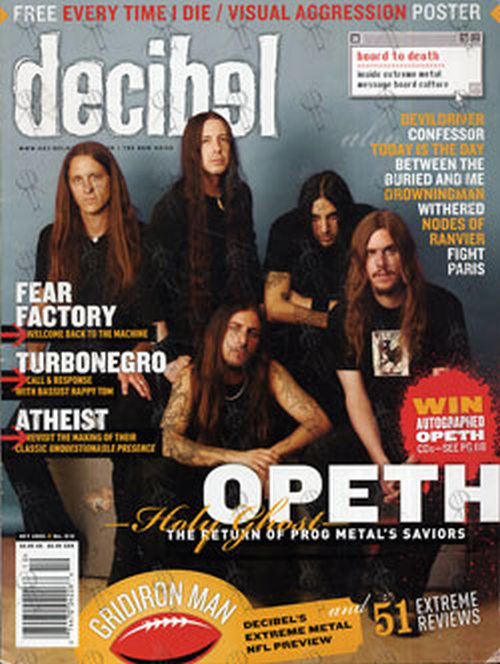 OPETH - 'Decibel' - October 2005 - Opeth On Cover - 1