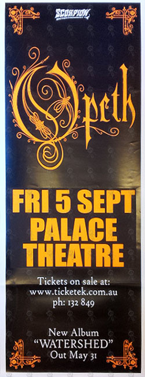 OPETH - Fri 5 September - The Palace Theatre 2007 Show Poster - 1