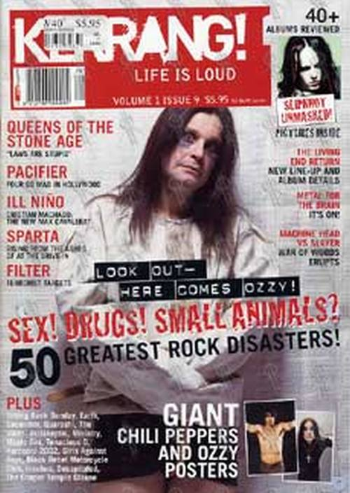 OSBOURNE-- OZZY - 'Kerrang!' - Volume 1 Issue 9 2002 - Ozzy On The Cover - 1