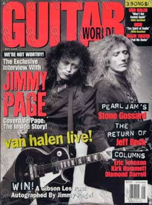 PAGE AND PLANT - 'Guitar World' - May 1993 - Page & Coverdale On Cover - 1