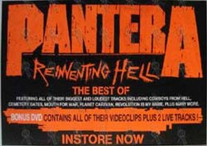 PANTERA - 'Reinventing Hell' Album Poster - 1