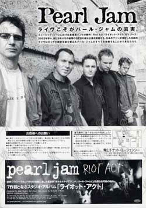 PEARL JAM - March 2003 Japanese Mini-Poster Flyer - 2