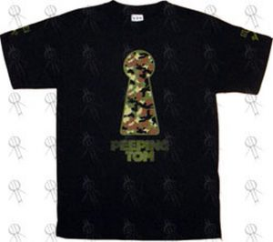 PEEPING TOM - Black 'Keyhole' Design T-Shirt - 1