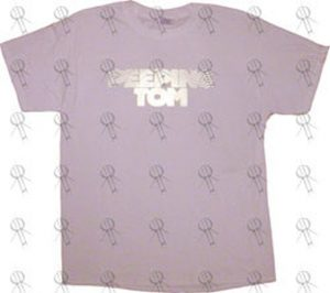 PEEPING TOM - White 'Gold Logo' Design T-Shirt - 1