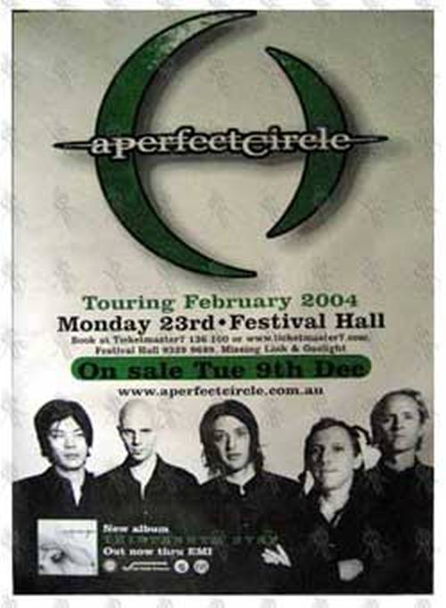 PERFECT CIRCLE-- A - Festival Hall Melbourne - Monday 23rd February 2004 Show Poster - 1