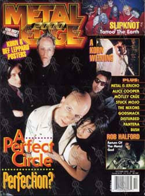 PERFECT CIRCLE-- A - 'Metal Edge' - Oct 2000 - A Perfect Circle On Cover - 1
