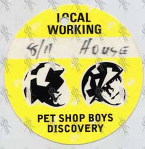 PET SHOP BOYS - 'Discovery' Tour Local Working Pass - 1