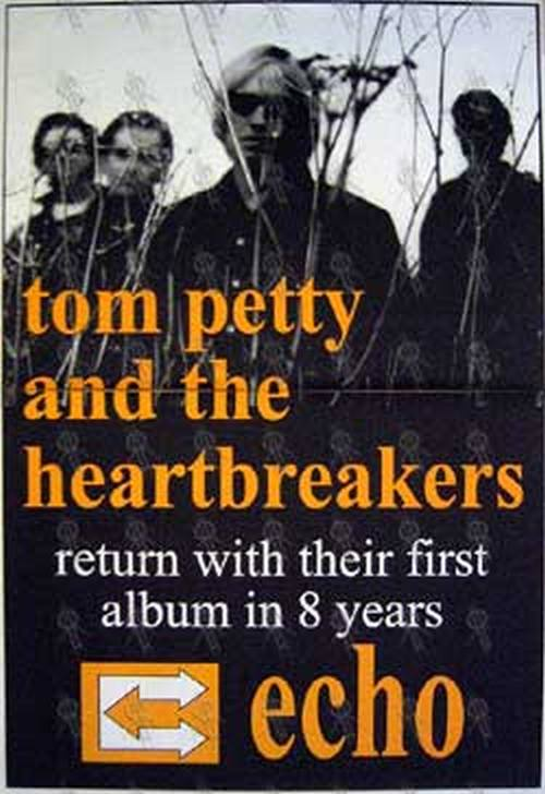 PETTY & THE HEARTBREAKERS-- TOM - 'Echo' Album Poster - 1