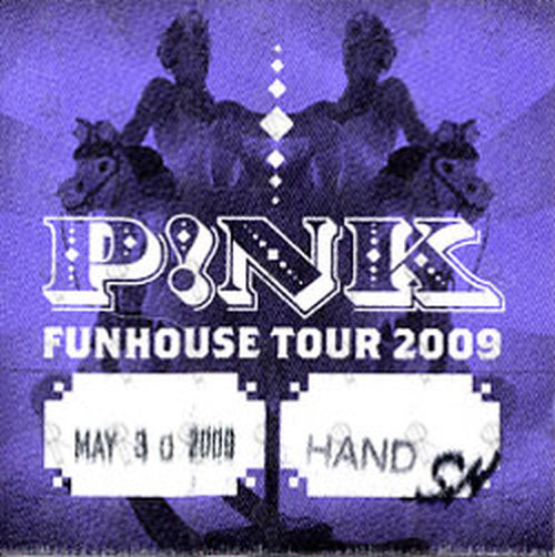 PINK - 'Funhouse Tour' May 30th 2009 Cloth Stick-On - 1