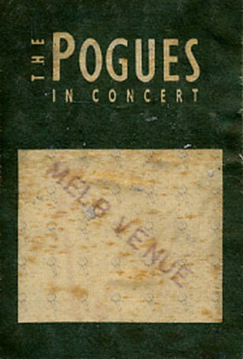 Pogues The In Concert Cloth Sticker Pass Backstage