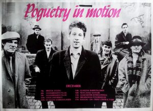 POGUES-- THE - Poguetry In Motion 1986 UK Tour Poster - 1