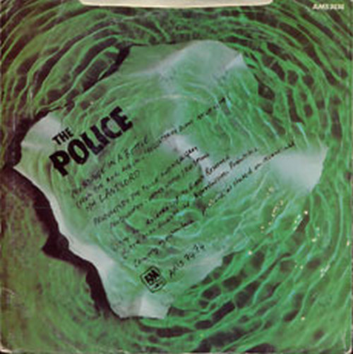 Police The Message In A Bottle 7 Inch Vinyl Rare