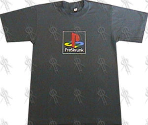 PRE-SHRUNK - Forest Green 'Playstation' Design T-Shirt (Misprint) - 1