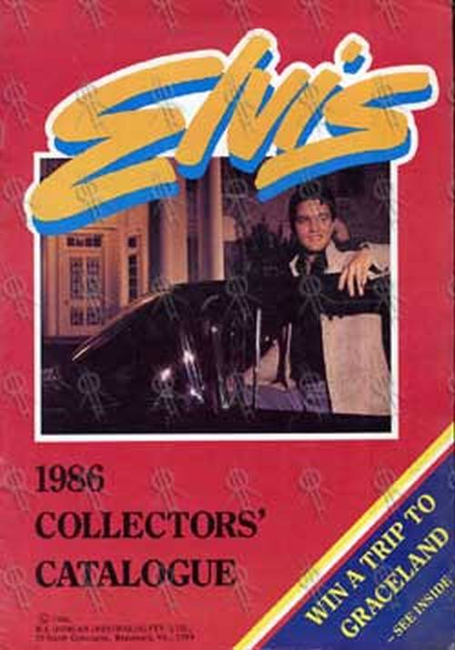PRESLEY-- ELVIS - 1986 Collectors' Catalogue - 1