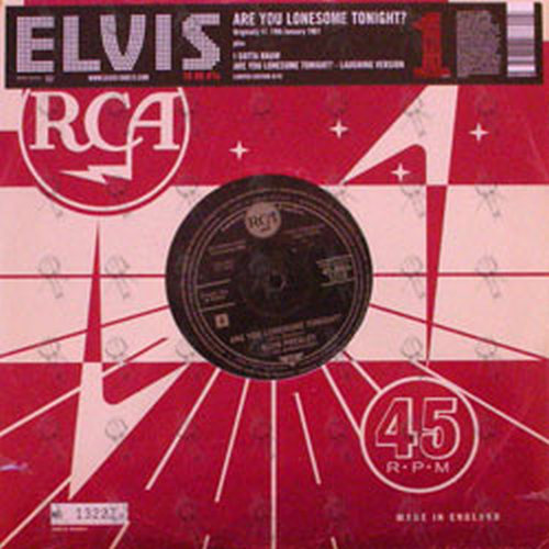 PRESLEY-- ELVIS - Are You Lonesome Tonight - 1