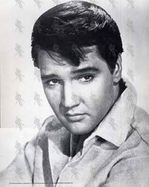 PRESLEY-- ELVIS - Black & White Print (#442) - 1