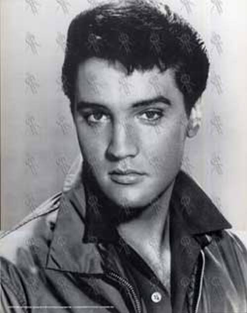 PRESLEY-- ELVIS - Card-Mounted Black & White Print - 1