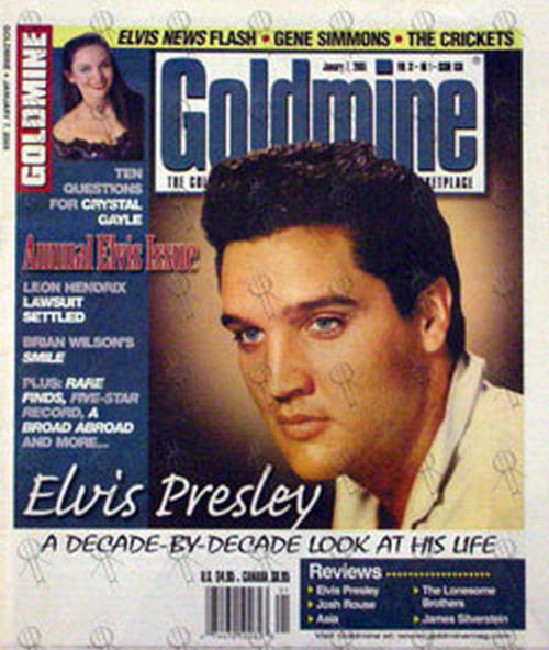 PRESLEY-- ELVIS - 'Goldmine' - January 7