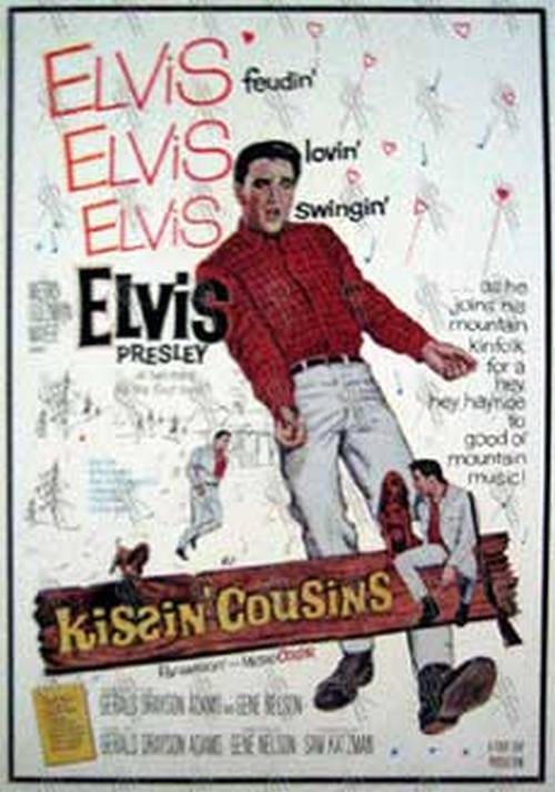 PRESLEY-- ELVIS - 'Kissin' Cousins' Embossed Tin Wall Hanging - 1