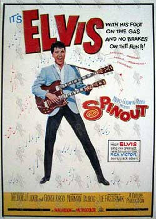 PRESLEY-- ELVIS - 'Spinout' Embossed Tin Wall Hanging - 1