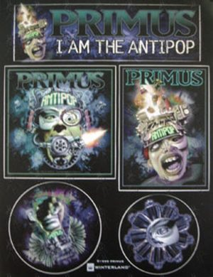 PRIMUS - 'Antipop' High-Quality Vinyl Sticker Sheet - 1