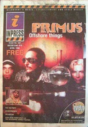PRIMUS - 'Inpress' - 8th April 1998 - Primus On Cover - 1