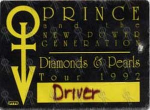 PRINCE AND THE NEW POWER GENERATION - 'Diamonds & Pearls' Tour 1992 Pass - 1