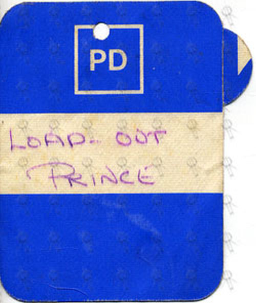 PRINCE - Unused Load-Out Cloth Sticker Pass - 1