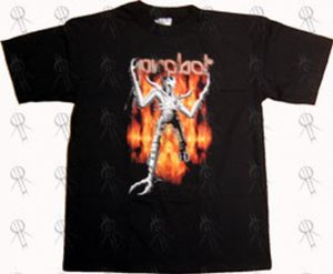 PROBOT - Black Flamebot Design T-Shirt - 1